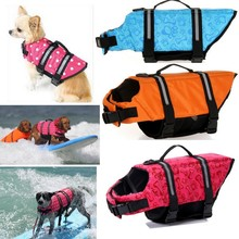 Pet Dog Life Jacket Safety Clothes Life Vest Collar Harness Saver Pet Dog Swimming Preserver Large Dog Clothes Summer Swimwear(China)