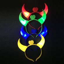 Led Wedding Dress Baby Shower 20pcs/lot Led Flashing Ox Horns Luminous Toys Light Up Headwear For Party Concert Props Glowing