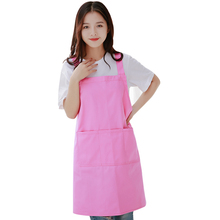Woman Girl Princess Cute Pink Work Barbecue Gardening Home Apron With Pockets Cotton Nursery Painting Drawing Delantal Tablier