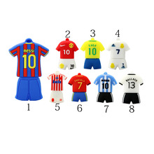 Hot Sale usb flash drive 64GB pen drive 32GB pendrive 16GB 8GB new football shirt pendrive Usb 2.0 flash card memory stick
