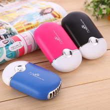 1pc Portable Rechargeable Air Conditioner Cooler Mini Handheld Hand Desk USB Fan Outdoor Travelling Hand Held Pocket Fan