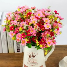 35CM 28 Heads Artificial Silk chrysanthemum / Home Party Wedding Vine Plant Daisy Decoration