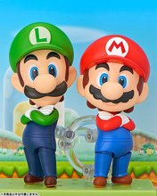 Super Mario Bros Action Figures Nendoroid Luigi Mario PVC 10mm Anime Game Toys Super Mario Collectible Nendoroid Model Toy(China)