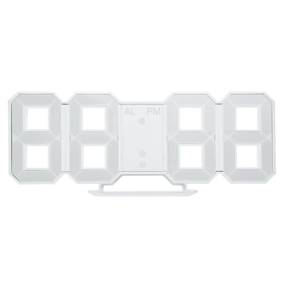 Multi-use 8 Shaped LED Display Desktop Digital Table Clocks ...