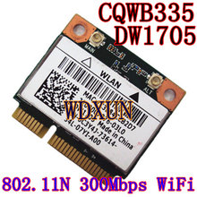 Atheros DW1705 Беспроводная 802.11N + Bluetooth 3,0 150 Мбит/с wifi Половина мини PCI-E Wlan карта QCWB335 для DELL Asus acer Toshiba wifi(China)