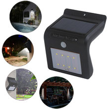 New 8 LED Wall Lights Outdoor Solar Powered Motion Sensor Security Lighting  ALI88