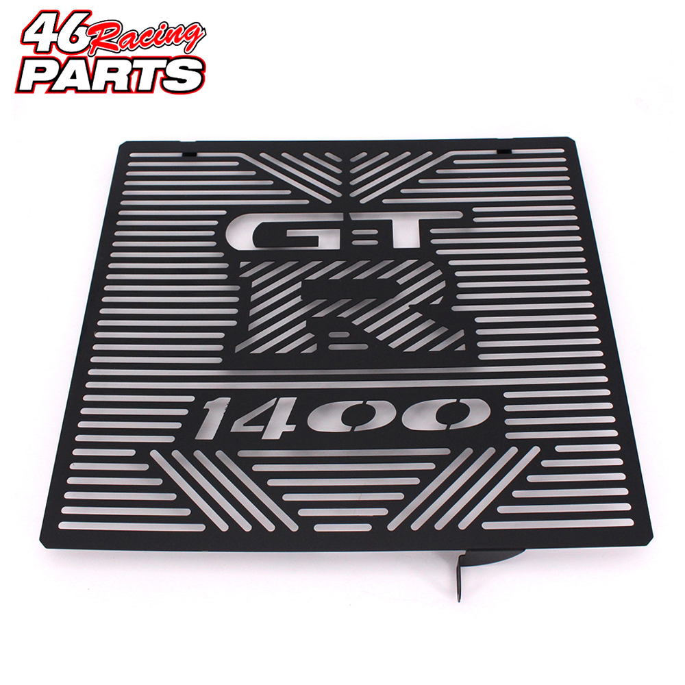 Black Motorcycle Accessories Radiator Guard Protector Grille Grill Cover For Kawasaki GTR 1400 GTR1400 2012 2013 2014<br>