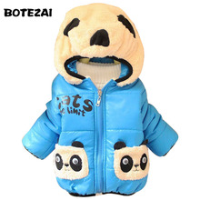 2017 New Baby Girls Boys Jacket Kids Winter Cartoon Bear Cotton Keeping Warm Coat Chirdren Lovely Hoodies Vest(China)
