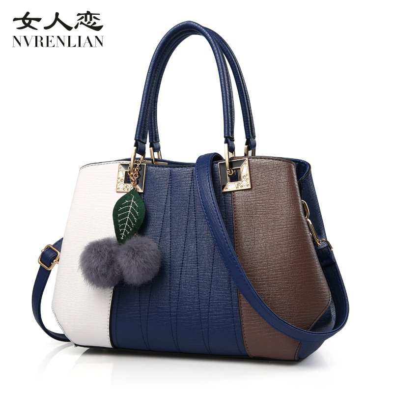 NVRENLIAN Brand Vintage Women Handbags Casual Leather Ladies Patchwork Bag Female Tote Women Messenger Bag sac a main<br>