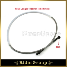 1130mm Braided Steel Hydraulic Reinforced Brake Clutch Oil Hose Line Brake Oil Pipe for Motocycle Pit Dirt Bike Taotao Sunl