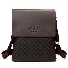 new 2016 fashion polo men bags men's leather messenger bag Plaid Casual leather bag man brand Business shoulder bag hot selling