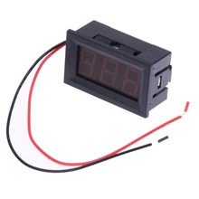 0.56 inch LCD DC 3.2-30V Red LED Panel Meter Digital Voltmeter with Two-wire Warehouse