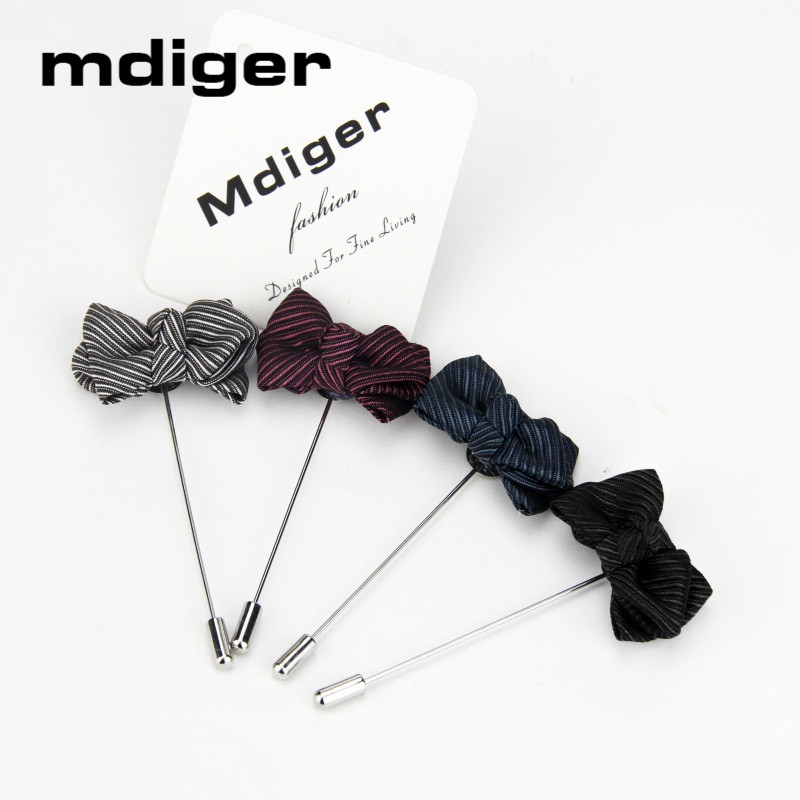 Mdiger Brooch Pin Wedding Suit Petal Lapel Pin Leaf Brooch Handmade Non-woven Brooches Lapel Pins Jewelry Wholesale 10 PCS/LOT(China)