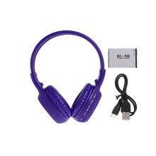 OOTDTY Headphone BS862 Foldable Bluetooth Wireless Earphone LCD Screen TF Card Stereo MP3 Headset(China)