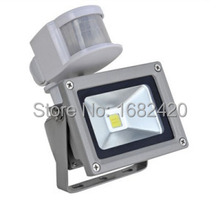Kung Free shipping 12V 10W Input PIR LED flood light for Solar system garage for security with Motion Sensor Time Lux adjust(China)