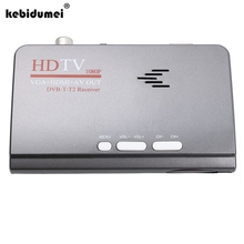 kebidumei Digital TV Box 1080P HDMI DVB-T/T2 TV Box VGA AV CVBS Tuner Receiver With Remote Control HDMI HD 1080P VGA DVB-T2(China)