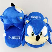 Sonic the Hedgehog Women Men Cartoon Plush Home Slippers Fashion Winter House Indoor Shoes Soft Toys Dolls(China)