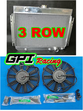 ALUMINUM RADIATOR 1963-1968 FOR CHEVY FOR BELAIR FOR Impala AT/MT 1964 1965 1966 1967 + FAN(China)