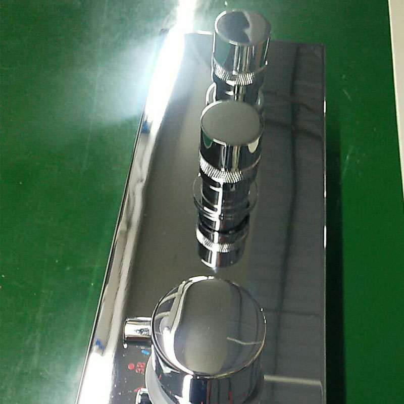 JMKWS 2 Functional Thermostatic Bath Shower Mixer Brass Chrome Controller Water Mixer Valve High Flow Bathroom Shower Switch 4