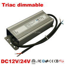 DC 12V 24V Power supply electronic transformer triac Dimmable Led Driver 25W 50W 80W IP67 alimentation 220 12V Strip Dimming(China)