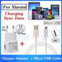 Good Quality For XiaoMi Max Mi2 Mi3 4C 4i 4X RedMi 3S 4A Note 4 Note3 Micro USB Cable + 2.0A Wall Charger Travel Adapter