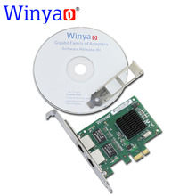 Winyao WY5715T2 PCI-E X1 Dual Port 10/100/1000Mbps Gigabit Ethernet Network Card Adapter Broadcom bcm5715 NIC