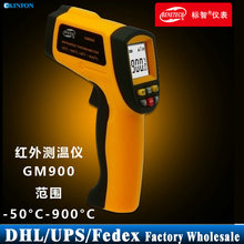 DHL Fedex UPS 10PCS GM900 Non-Contact Digital Infrared Thermometer -50~900Degree(-58~1652F) 0.1Adjustable Laser IR Ponit Gun(China)