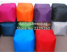 COVER ONLY NO FILLER - Indoor/Outdoor Big square size 16inch Bean Bag Ottoman(China)
