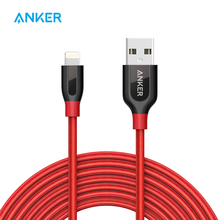 Anker PowerLine+ Lightning to USB Cable 3ft/6ft(With Pouch)/10ft MFI Certified Durable Fast Charging Braided for iPhone iPad etc(China)