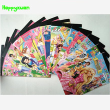 Happyxuan 5 books/lot  Arrival Adhesive Cartoon Characters Paper Sticker Book 6 pages Princess Dora Kids Girl Classic Toys