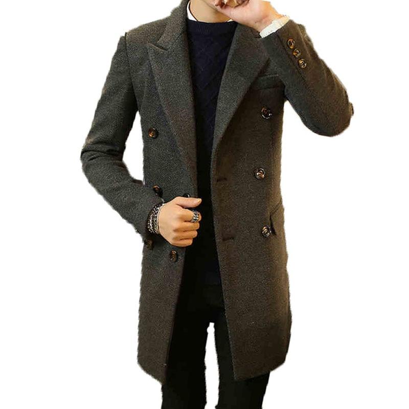 Popular Men Long Coats Woolen Cloth Coat-Buy Cheap Men Long Coats ...