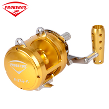PRO BEROS Aluminum CNC Machined 2-Speed Fishing Reel Lever Drag Big Game Trolling Reel Sea Boat Jigging Reel