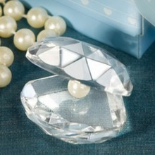 FREE SHIPPING by FEDEX,DHL,UPS(50pcs/Lot)+Choice Crystal Clamshell Figurines Baby Shower Favors Crystal Paperweight