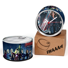 Avengers 2 Age of Ultron Movie Black Widow Scarlett Beautiful Girl Stars Design Can Clocks,Magnet Watches Table Clocks(China)