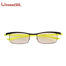 2017 FONHCOO NEW Anti Blue ray Radiation protection Computer goggles office gaming glasses Vintage Men Optical Frame