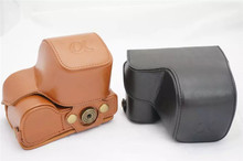 Brand New  Portable Camera Hard Case PU Digital Camera Bag Cover for Sony A6000 A6300 with Shoulder Strap