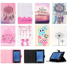 Universal 8 inch Tablet Case Wallet Magnetic Buckle Flip Stand Protective Cover For Android Samsung Asus iPad 8'' Tablet Coque(China)
