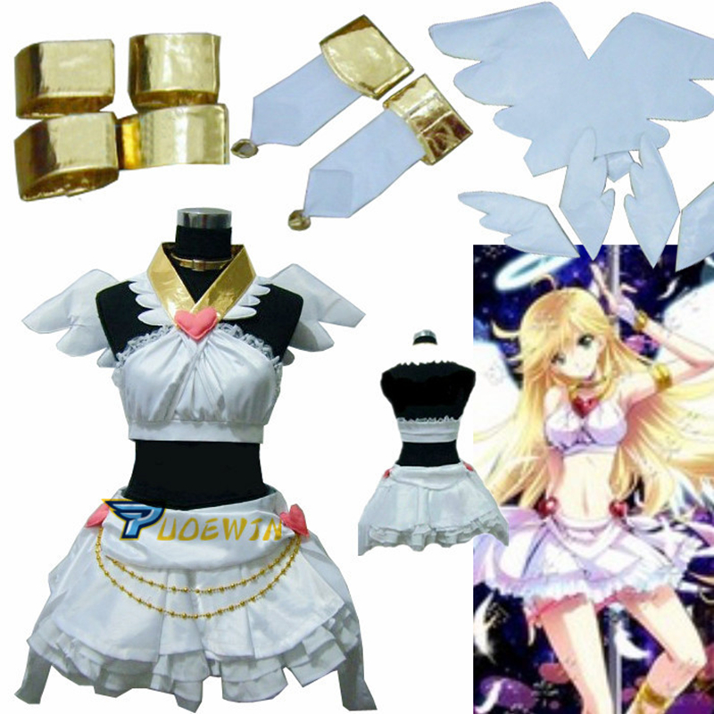 Panty /& Stocking with Garterbelt Anarchy Panty Angel Dress Cosplay Costume#