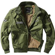 2017 New Spring Bomber Men's Jacket Fashion Army Soldier Coat Winter Warm Parkas Fur Thick Cotton Coats Brand Clothing LA085