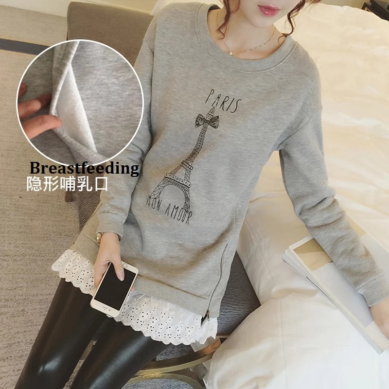 Afeitony Moms Fashion pregnancy Maternity Clothes Maternity Tops/T-shirt Breastfeeding shirt Nursing Tops for pregnant women(China (Mainland))