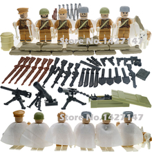 Soviet Russian National Army The Battle Moscow Custom Anti Guard Husky Military soliders building blocks toy for children
