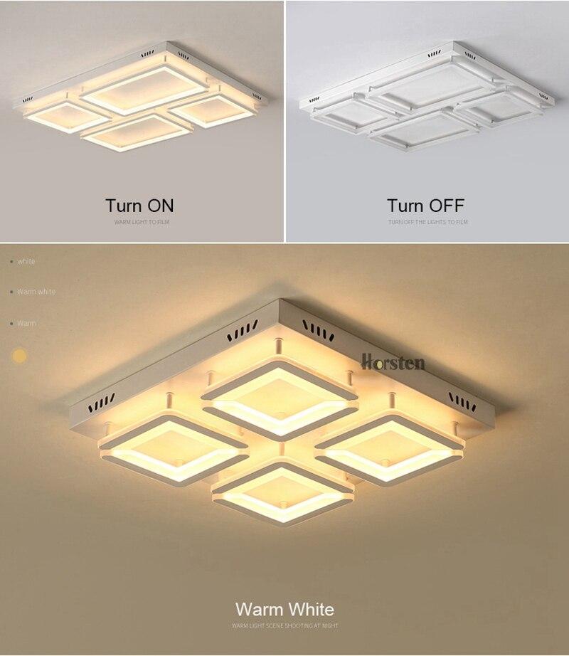 Modern Led Ceiling Light For Living Room Bedroom Kitchen Dimmer Simple LED Ceiling Lamp Home Lighting (12)