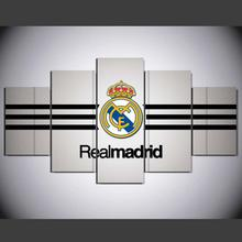 5 Panel Canvas Printed La Liga Real Madrid Painting For Living Picture Wall Art HD Print Decor Modern Artworks TP-1013