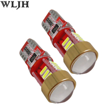 WLJH 2x Canbus T10 LED W5W Car LED Projector Lens Auto Lamp for mitsubishi asx Evo V3 Lioncel Galant outlander lancer accessory(China)