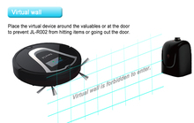 (Free to USA)Eworld Intelligent Smart Automatic Robotic Vacuum Cleaner, Everyday Dust Removal, Powerful Suction (Black)(China)