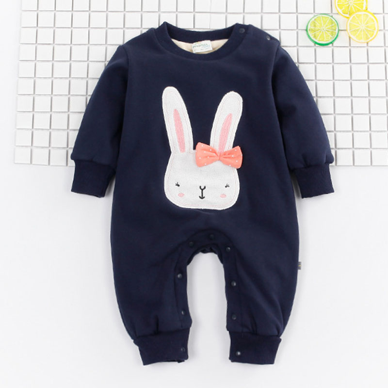 Winter Style Baby Clothes Baby Girl Boy Clothes Cute Bunny Hoodie Thicken Jumpsuits Baby Costume Newborn Coveralls Rompers<br><br>Aliexpress
