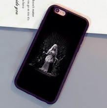 Game of Throne Daenerys Style Soft Rubber Skin Phone Cases For iPhone 6 6S Plus 7 7 Plus 5 5S 5C SE 4S Back Cell Housing Cover