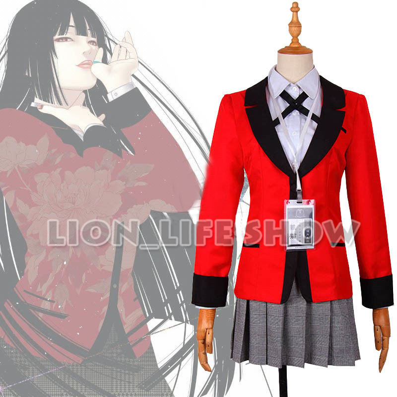 Kakegurui Yumeko Jabami Kirari Momobami School Uniform Cosplay Costume