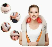 U Shape Electrical Shiatsu Body Back Neck Shoulder Massager Infrared Heated Kneading Cervical Massage Device Car/Home Dual Use(China)