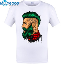 Tattoo Style Cool Men Design T Shirt Summer Short Sleeve O-neck Funny Print T-Shirt Brand Clothing Plus Size S-6XL Hip Hop T(China)